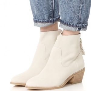 Joie Adria suede booties white/cream size 9